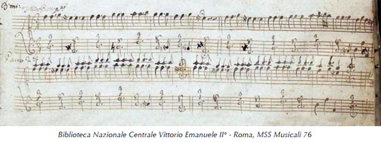 manuscript of anonymous Folia Roa, Italy 10 variations 38 Kb