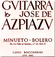 cover of sheet music Minueto-Bolero - 15 Kb