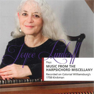 Cover of compact disc Joyce Lindorff plays music from the harpsichord miscellany - 15 Kb