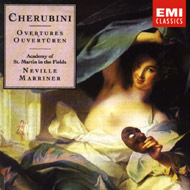 cover of Luigi Cherubini Ouvertures St. Martin in the Field cd - 15kB
