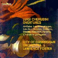 cover of Luigi Cherubini Ouvertures cd 15kB