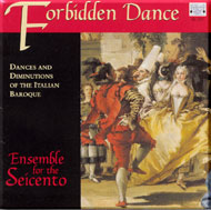cover of cd Ensemble for the Seicento - 15kB