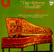 cover of Puyana's LP Das Virtuose Cembalo
