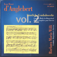 cover of cd d'Anglebert Folies d'Espagne by Barbara Maria Willi (harpsichord)