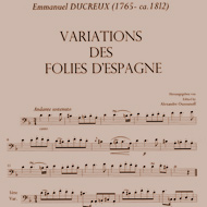sheet music impression of the Title Ducreux 15kB
