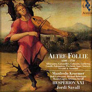 cover cd Hespèrion XXI 'Altre Follie' 15kB