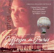 cover of cd Jefferson in Paris as music of the film score - size 11 kb