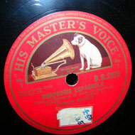 label His Master's Voice 78 rpm vinyl Barer 15kB