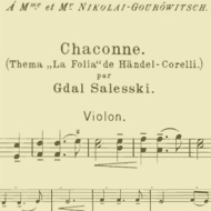 part of the sheet music for violin - 15kB