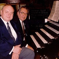 photo of István Lantos and János Sebestyén at  the Matthias Church, Budapest © Robert Tifft 2002, used with permission 15kB