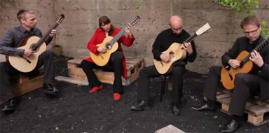 Barrios Guitar Quartet at YouTube  15kB