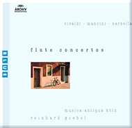 cover of cd Flute Concertos, Vivaldi, Mancini, Barbella - 9Kb